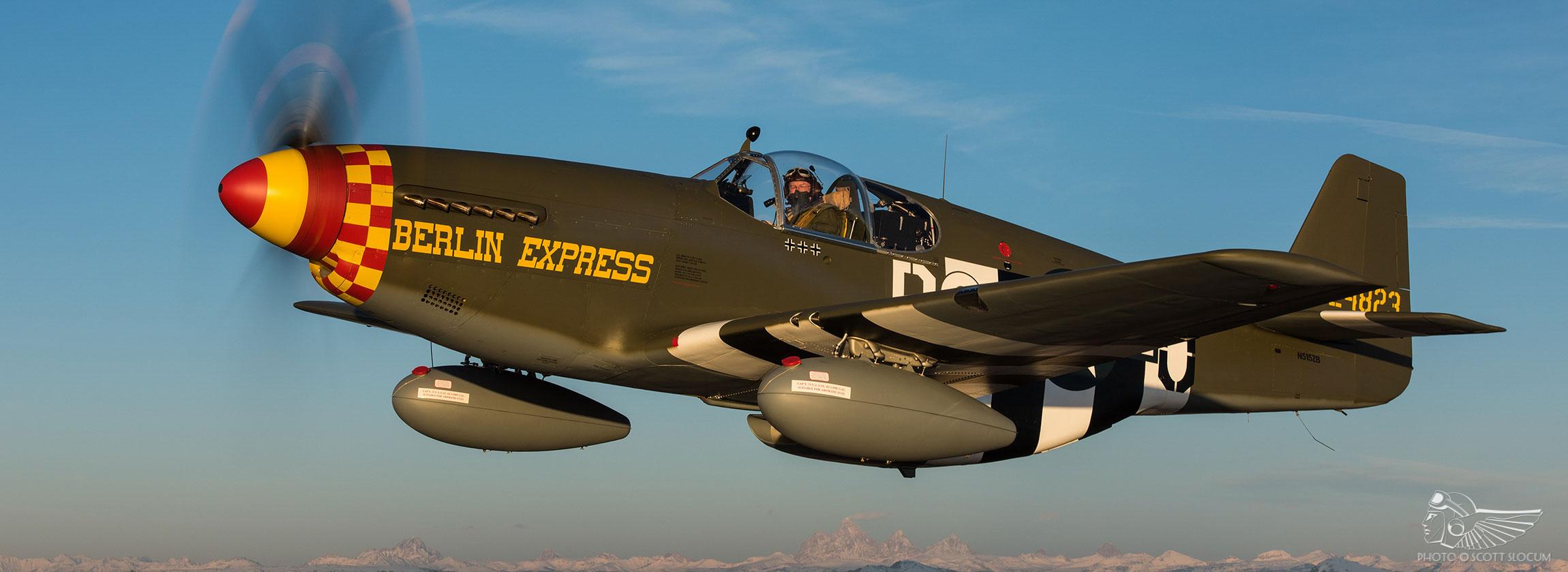 P 51b Berlin Express Begins Transatlantic Crossing The