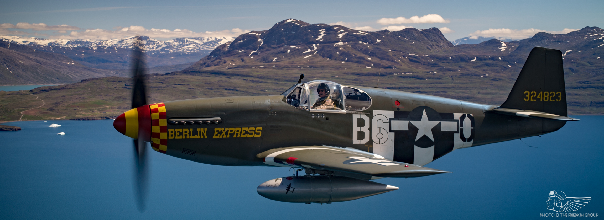 Crossing the Atlantic Ocean in P-51B Mustang 'Berlin Express'