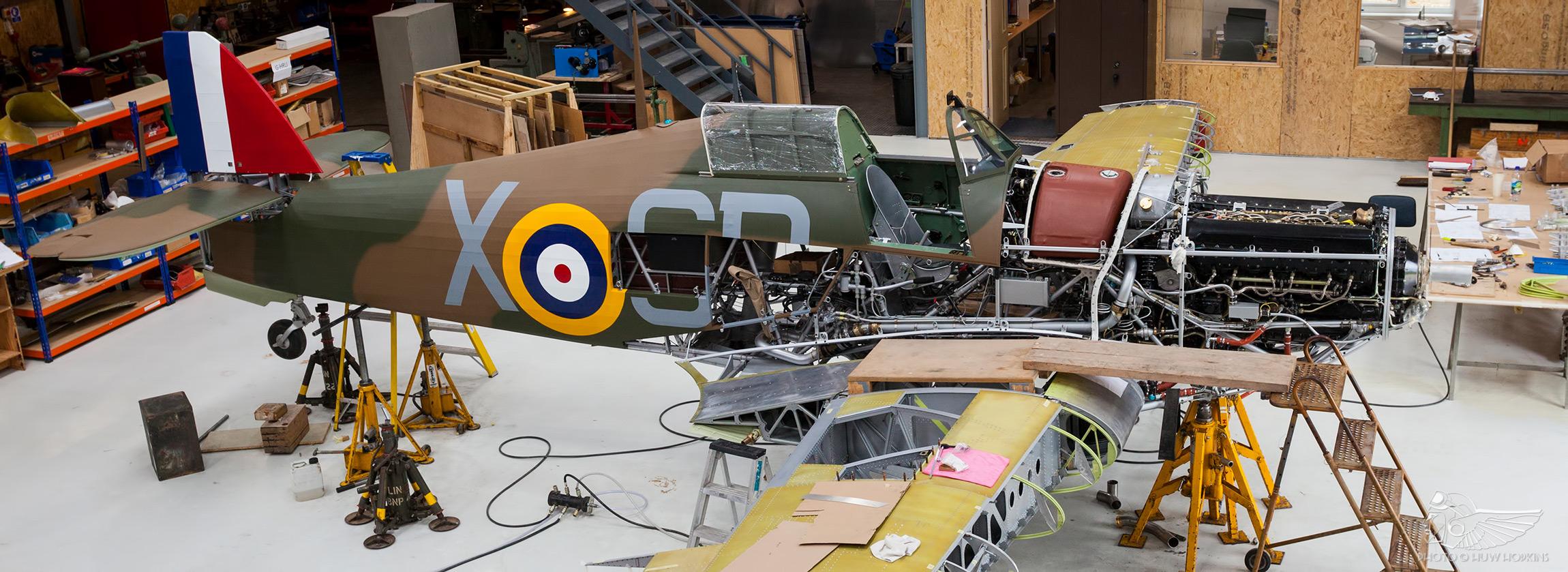 First flight in sight for Battle of Britain veteran Hurricane V7497